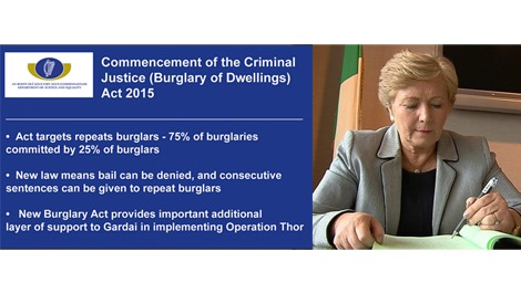 New burglary law to target repeat offender